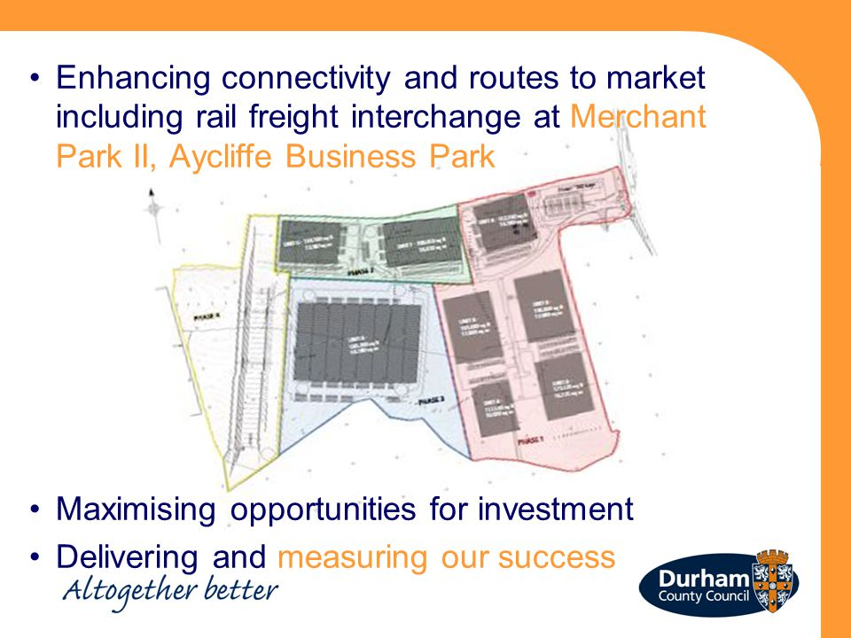 Enhancing connectivity and routes to market including rail freight interchange at Merchant Park II, Aycliffe Business Park