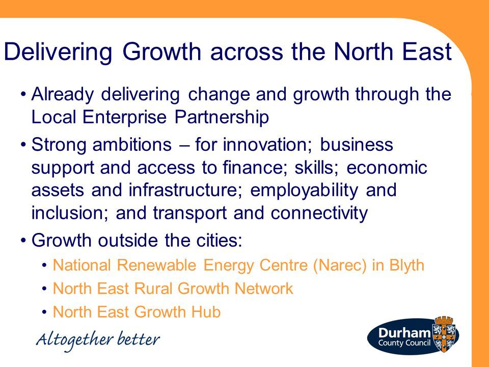 Delivering Growth across the North East