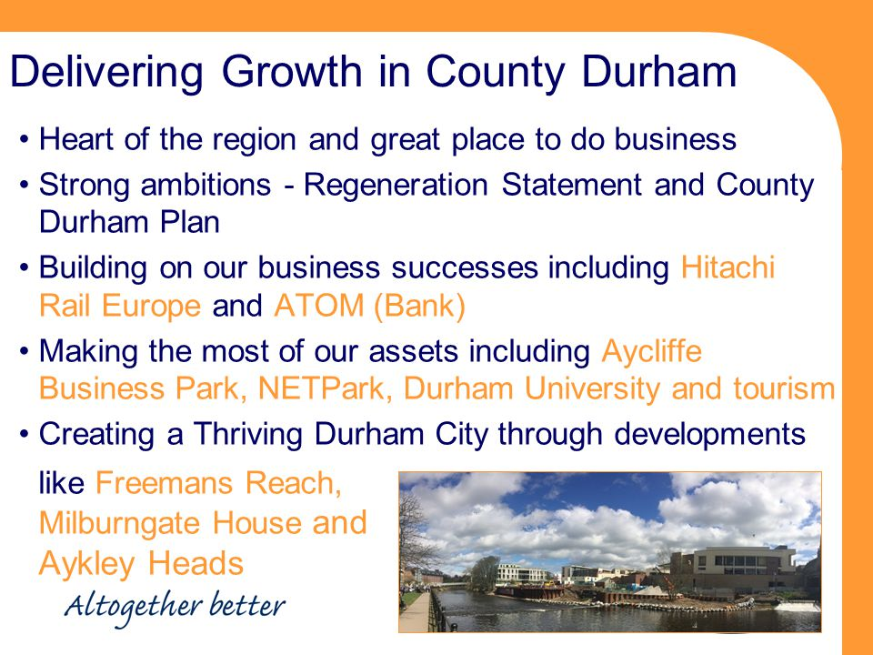 Delivering Growth in County Durham