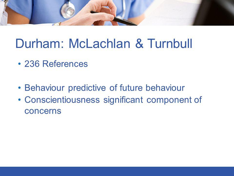 Durham: McLachlan & Turnbull