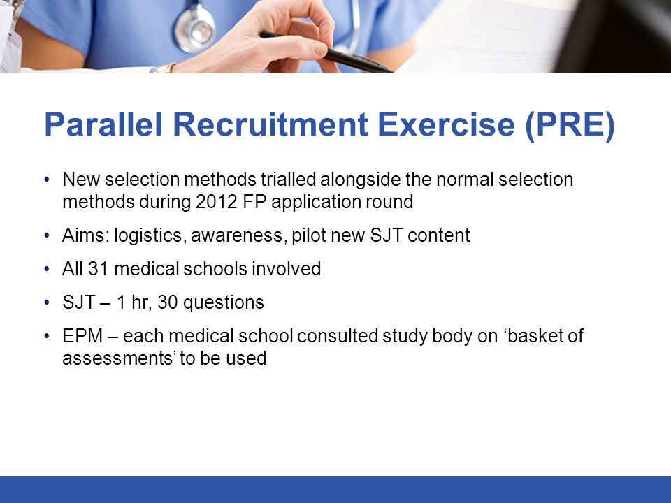 Parallel Recruitment Exercise (PRE)
