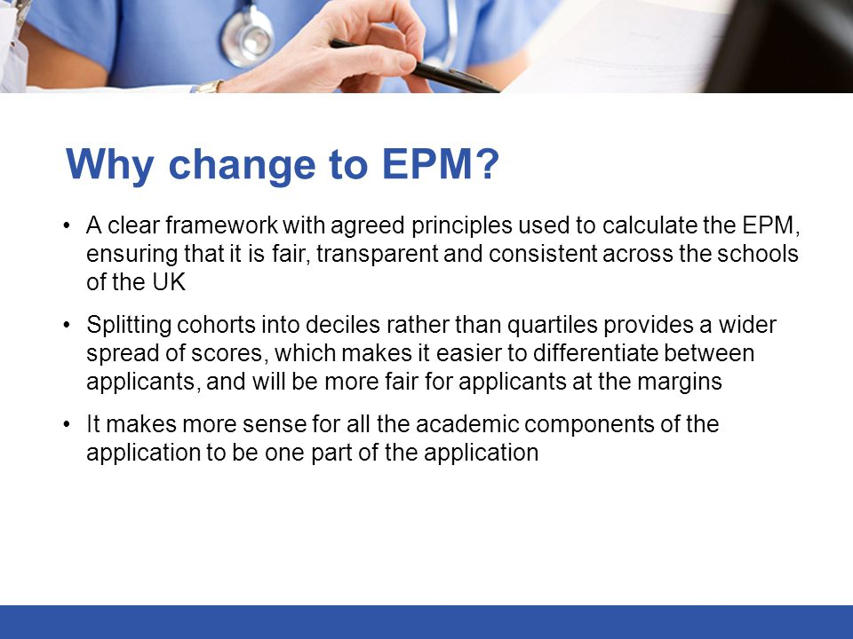Why change to EPM