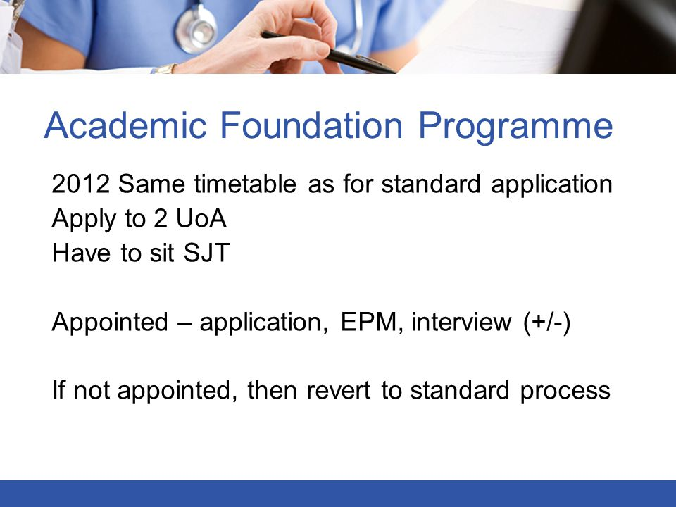 Academic Foundation Programme