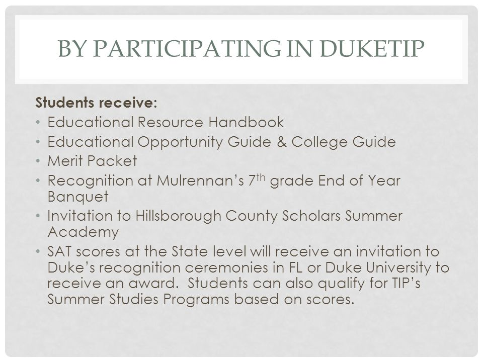 By participating in duketip