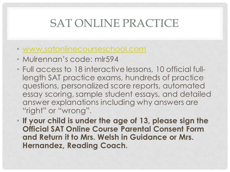 SAT Online Practice www.satonlinecourseschool.com
