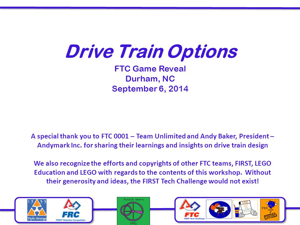 FTC Game Reveal Durham, NC September 6, 2014
