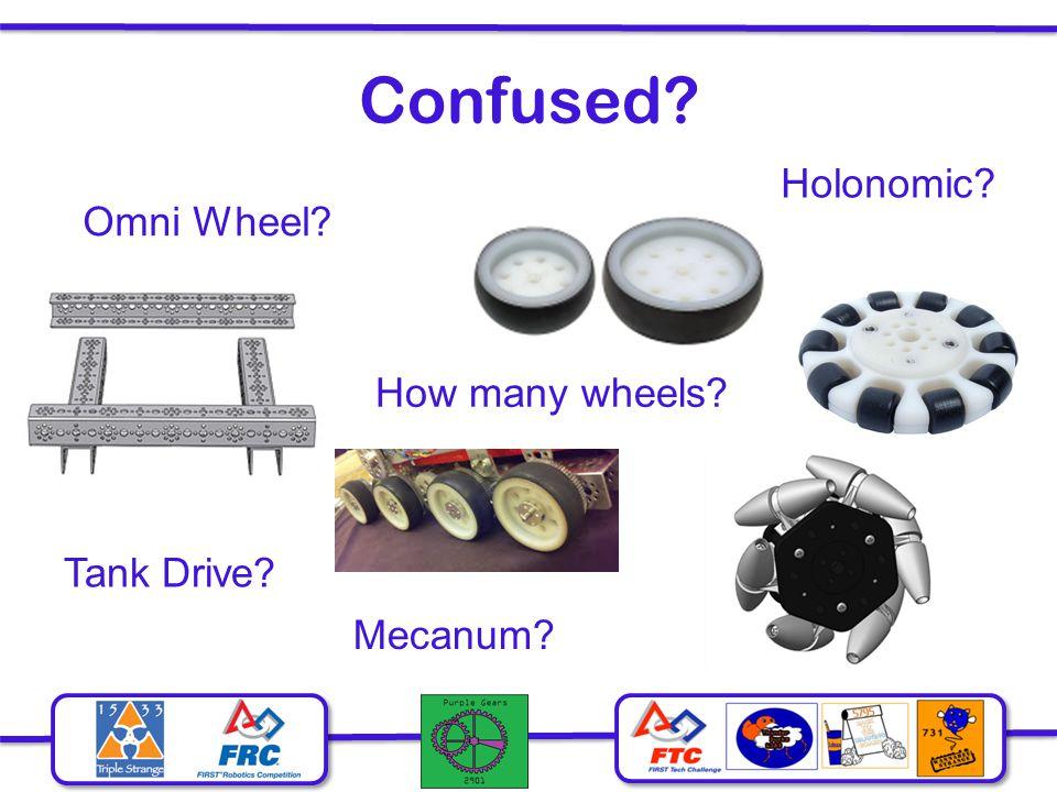Confused Holonomic Omni Wheel How many wheels Tank Drive Mecanum