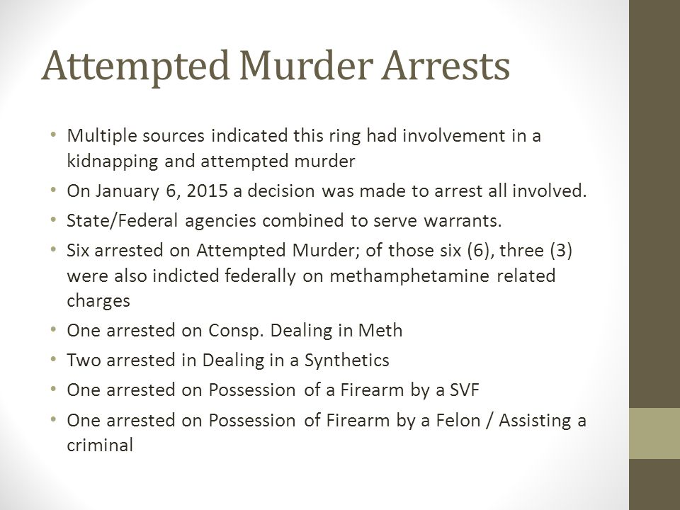 Attempted Murder Arrests