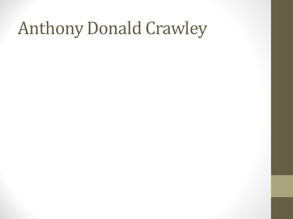 Anthony Donald Crawley