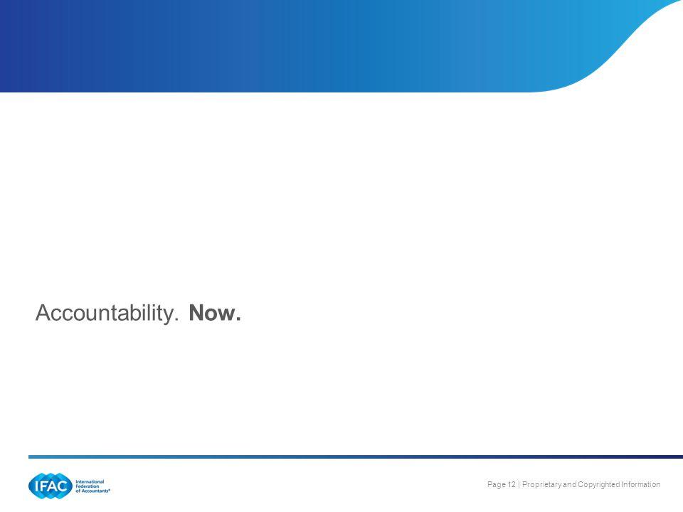 Accountability. Now.