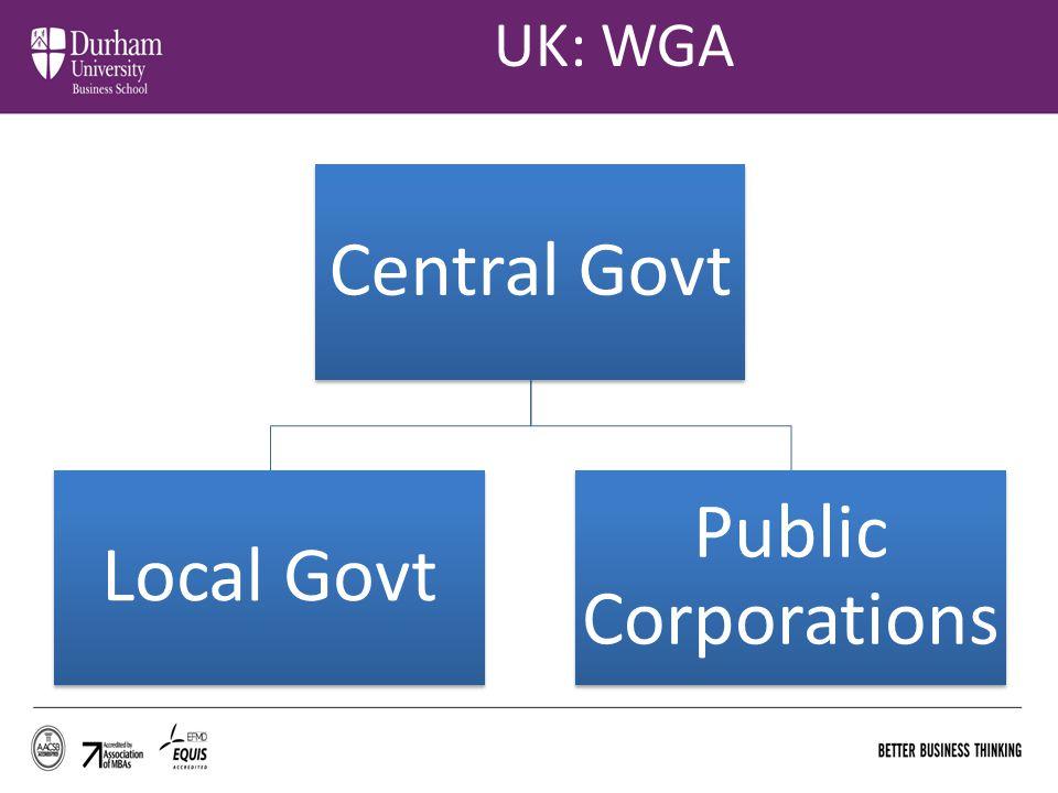 UK: WGA Central Govt Local Govt Public Corporations