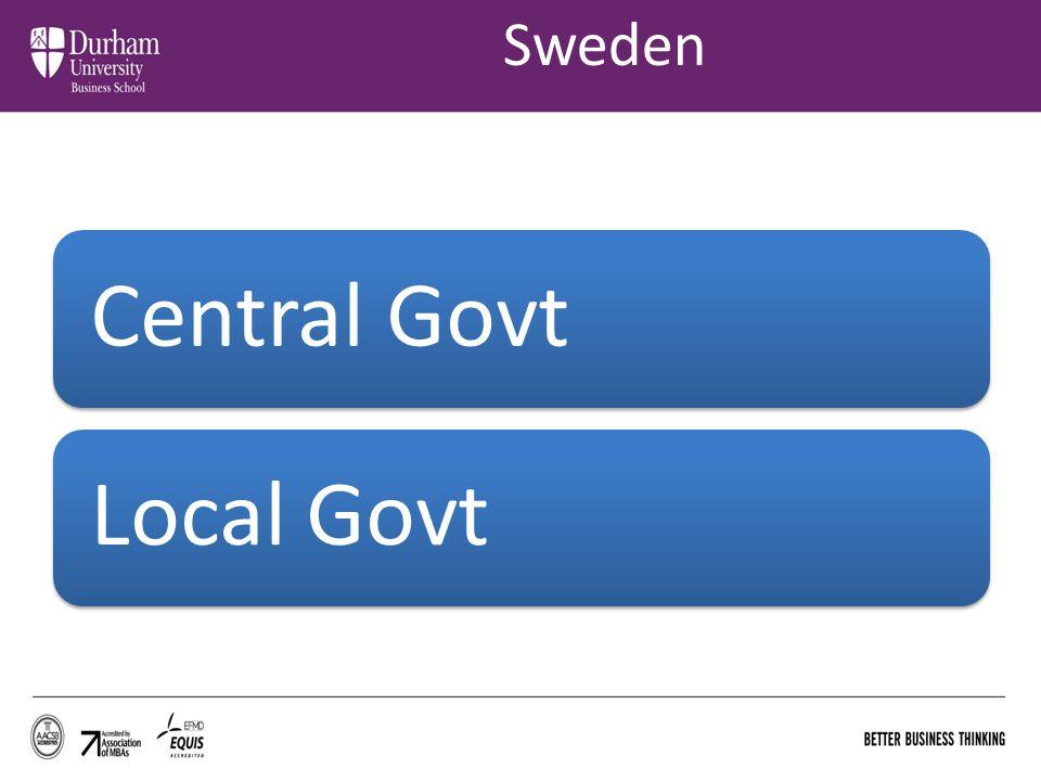 Sweden Central Govt Local Govt