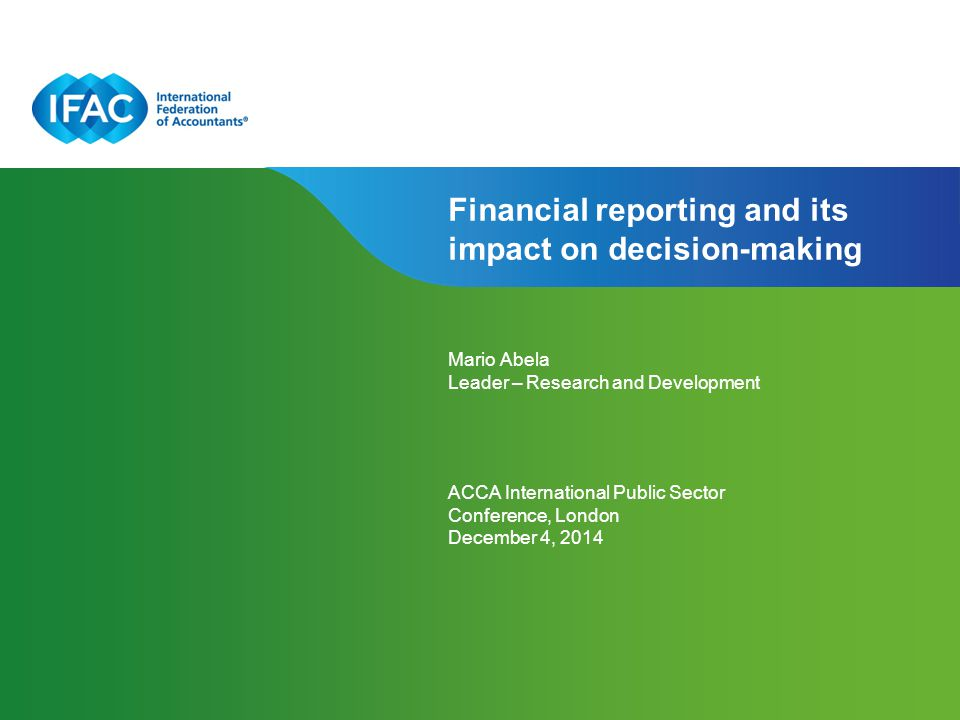 Financial reporting and its impact on decision-making