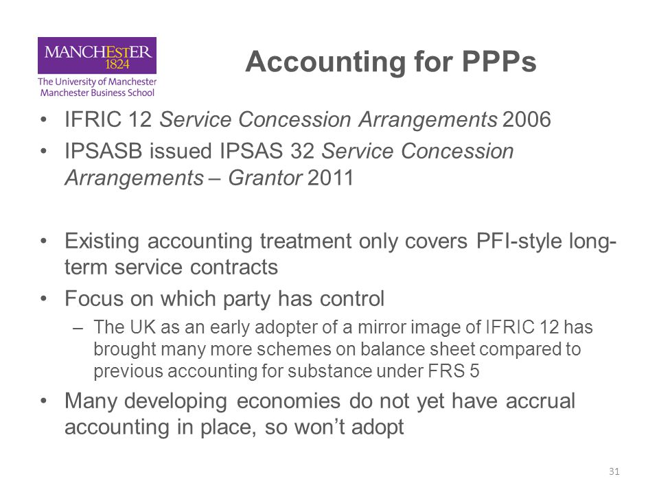 Accounting for PPPs IFRIC 12 Service Concession Arrangements 2006