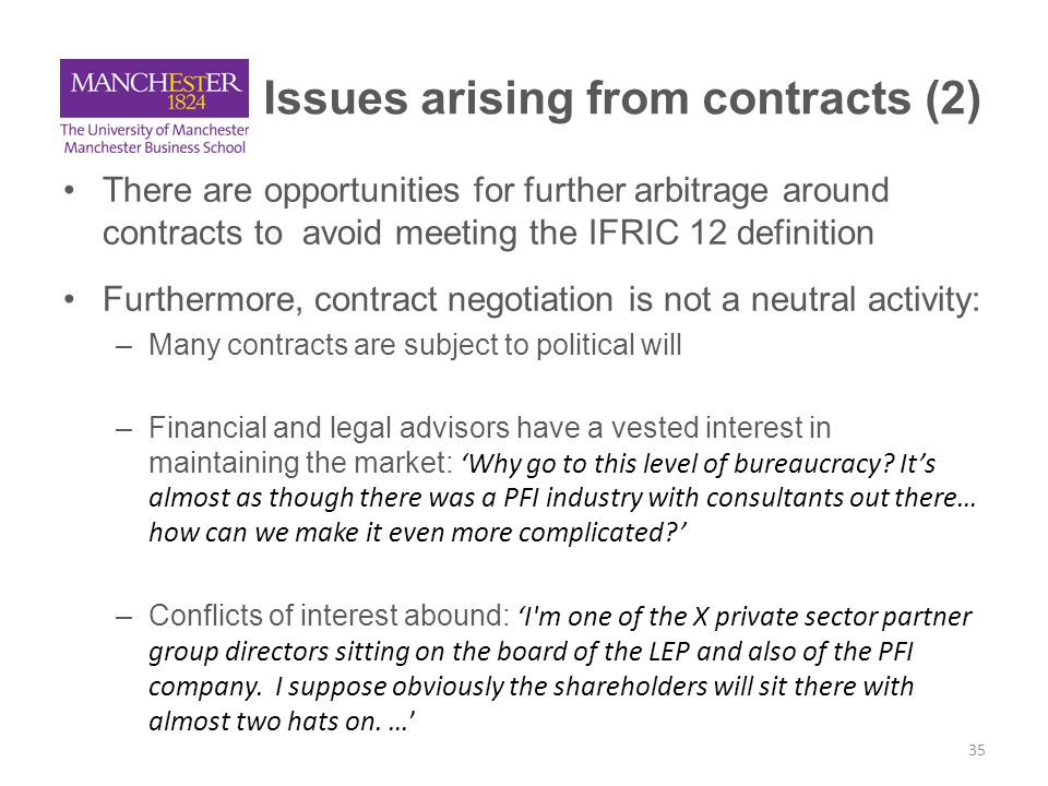 Issues arising from contracts (2)