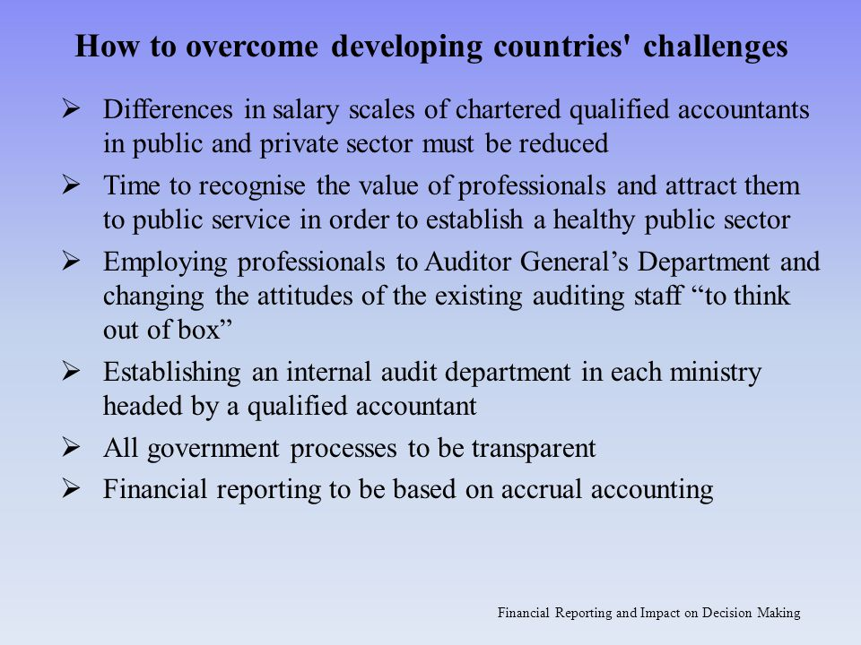 How to overcome developing countries challenges