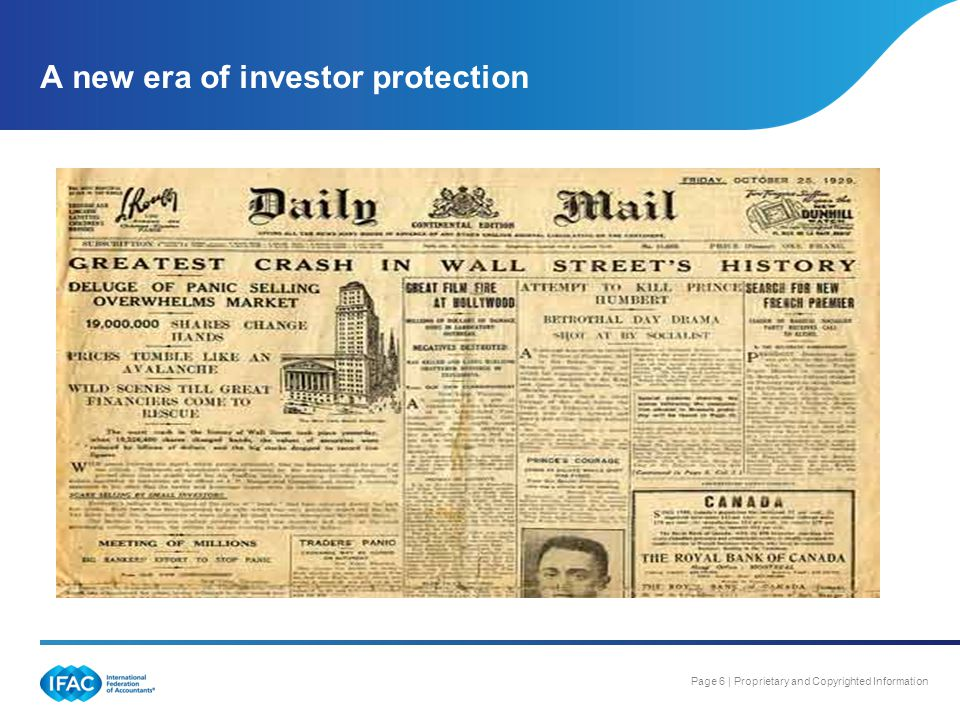 A new era of investor protection