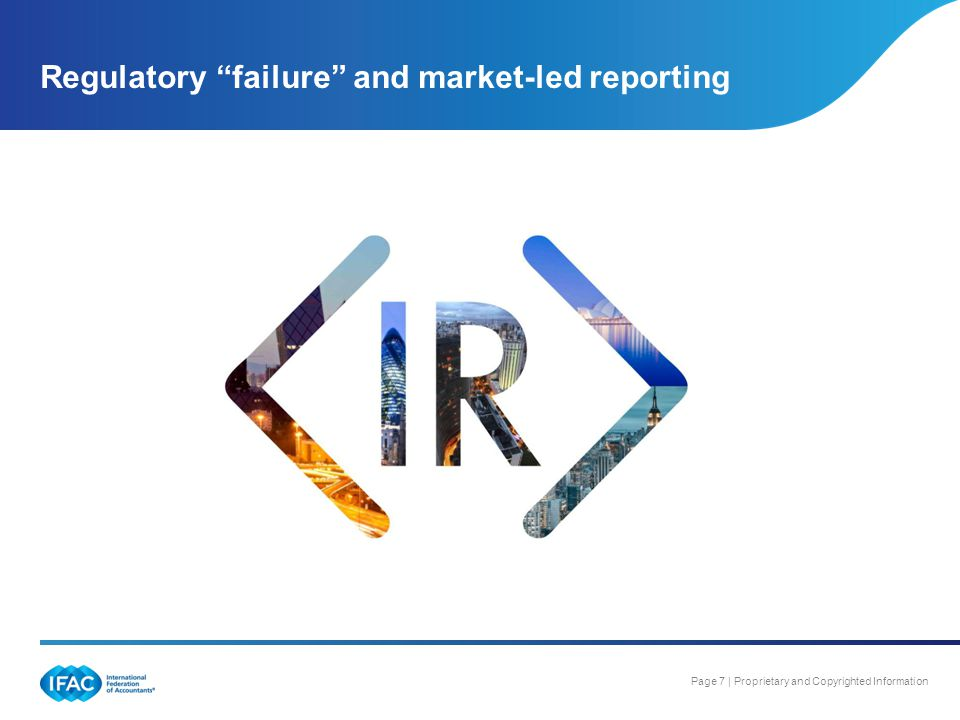 Regulatory failure and market-led reporting