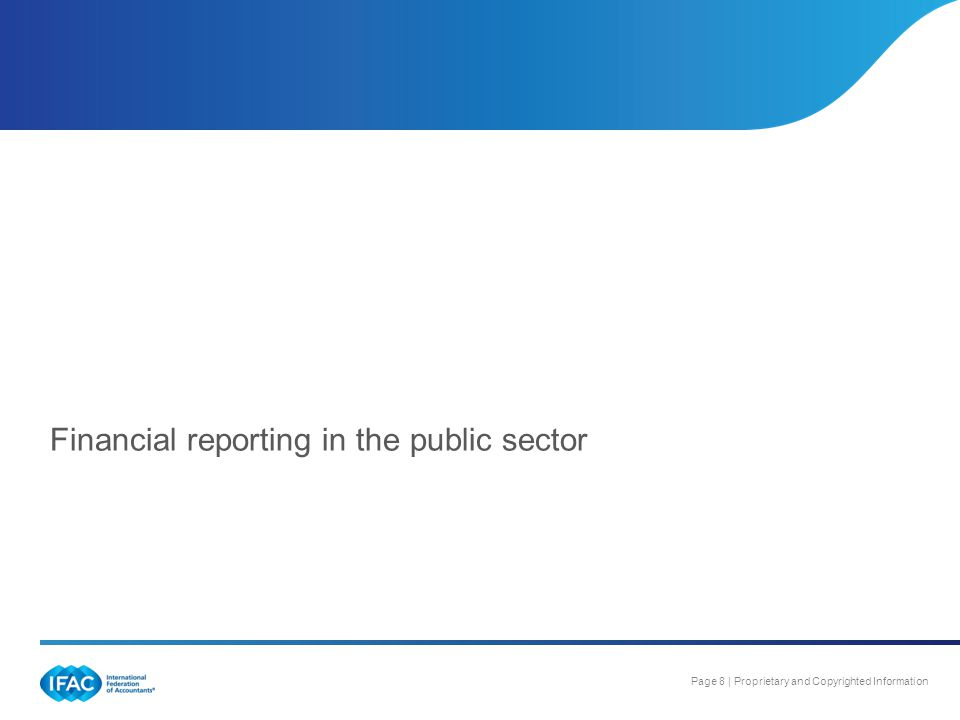 Financial reporting in the public sector