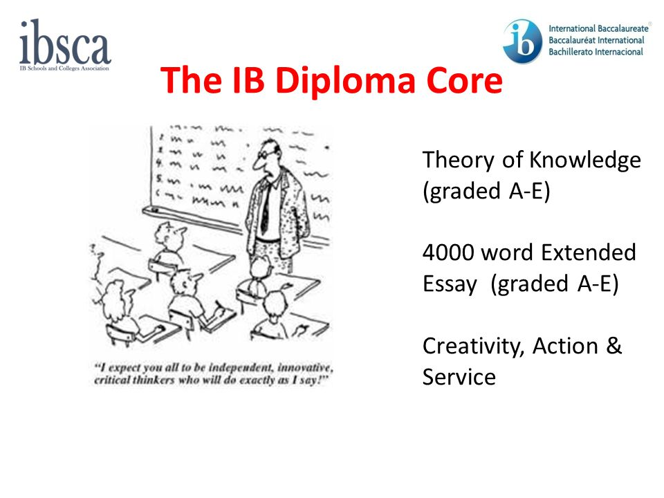 The IB Diploma Core Theory of Knowledge (graded A-E)