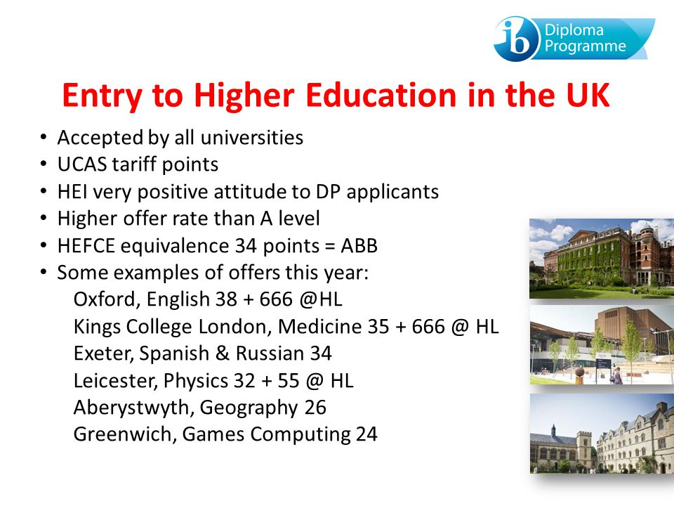 Entry to Higher Education in the UK