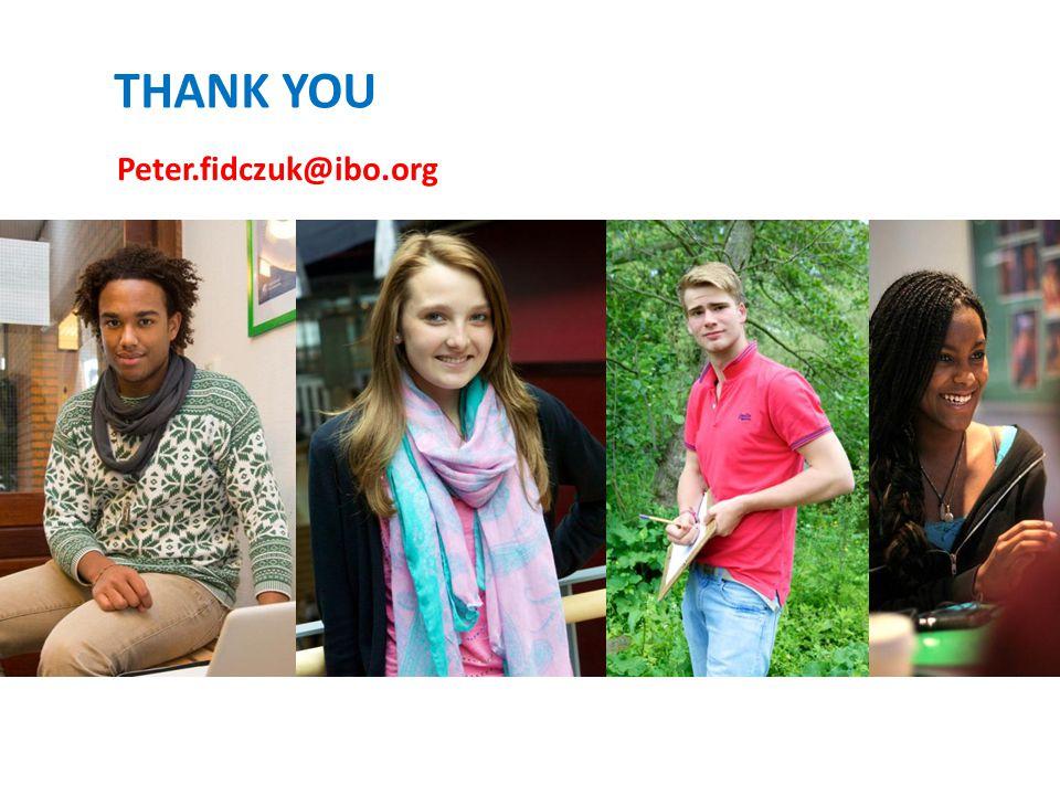THANK YOU Peter.fidczuk@ibo.org