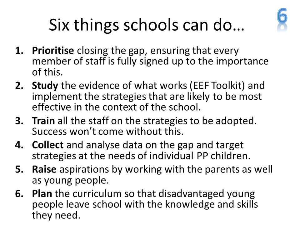 Six things schools can do…