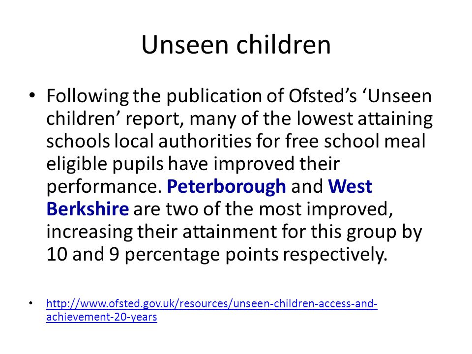 Unseen children