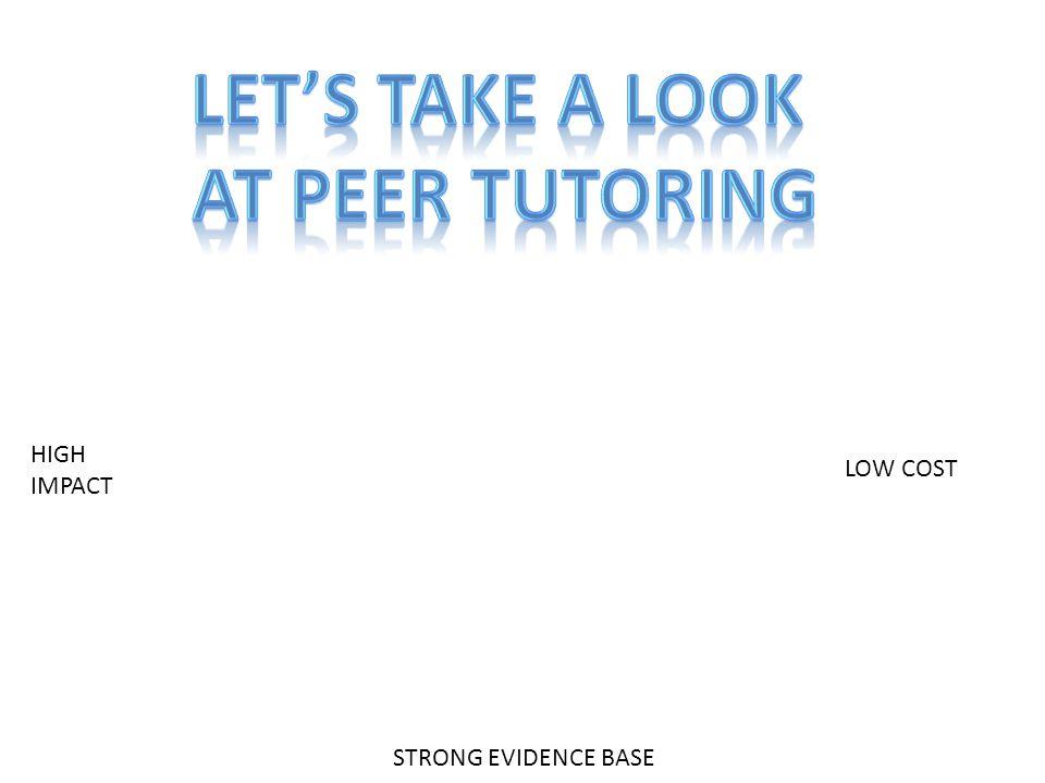 LET'S TAKE A LOOK AT Peer TUTORING