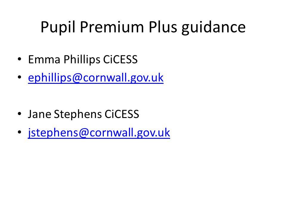 Pupil Premium Plus guidance