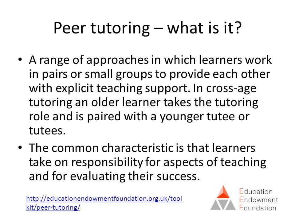 Peer tutoring – what is it