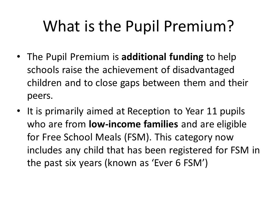 What is the Pupil Premium
