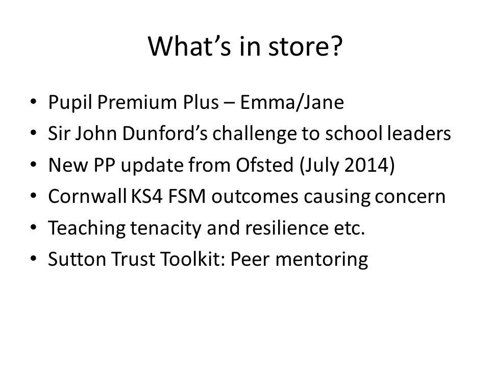 What's in store Pupil Premium Plus – Emma/Jane