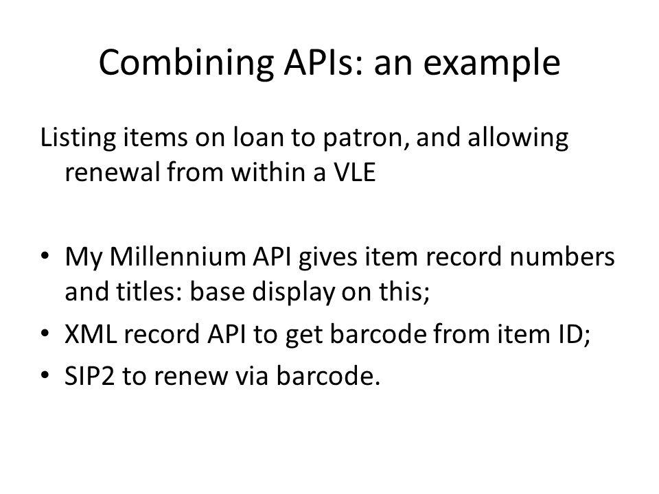 Combining APIs: an example
