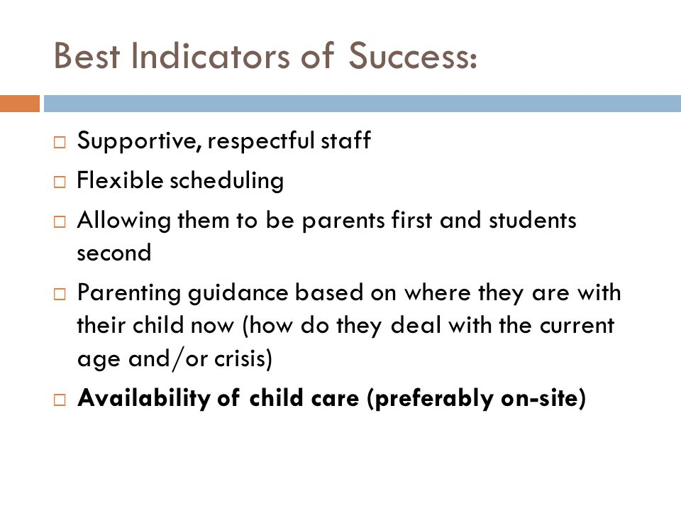 Best Indicators of Success: