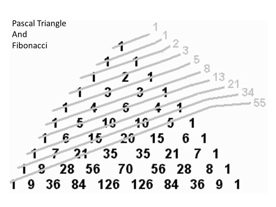 Pascal Triangle And Fibonacci