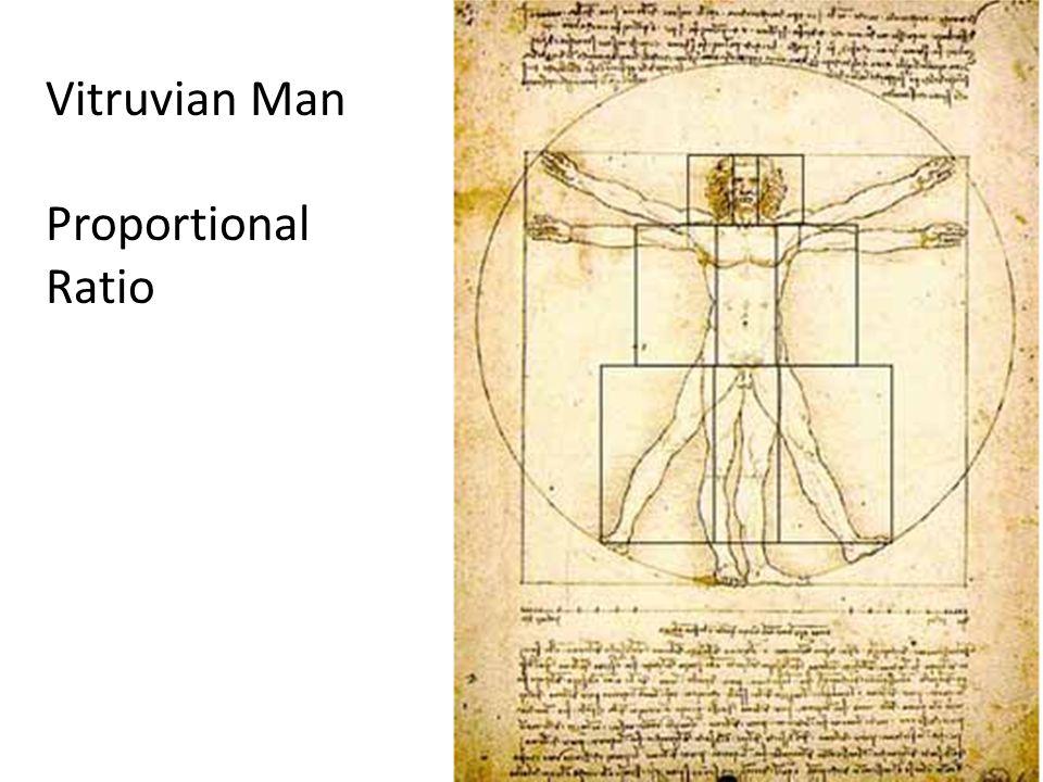 Vitruvian Man Proportional Ratio