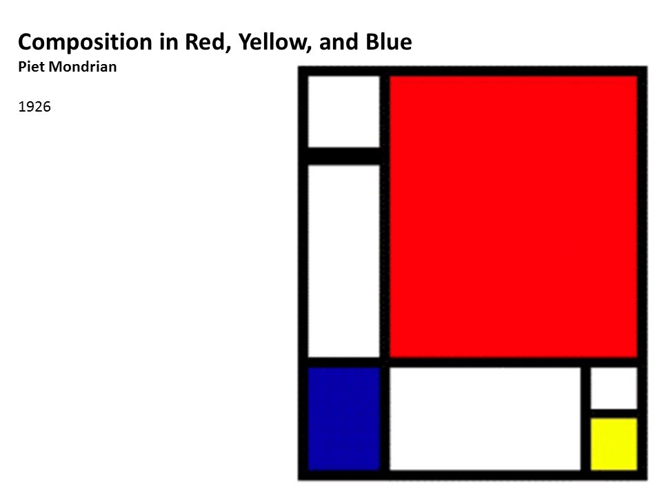 Composition in Red, Yellow, and Blue