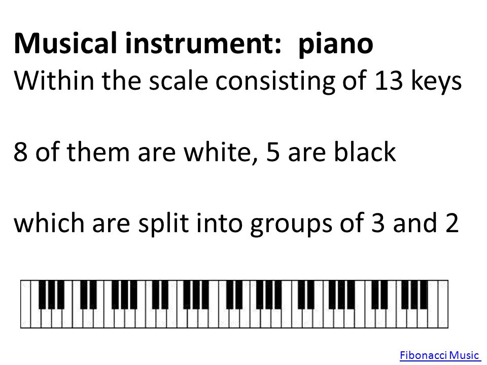 Musical instrument: piano