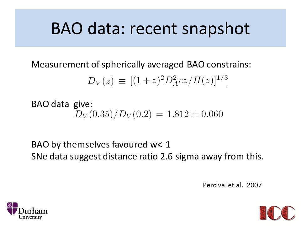 BAO data: recent snapshot