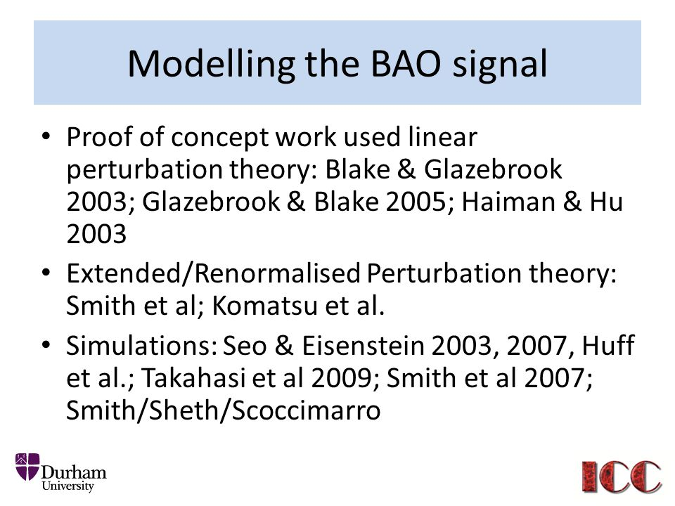 Modelling the BAO signal
