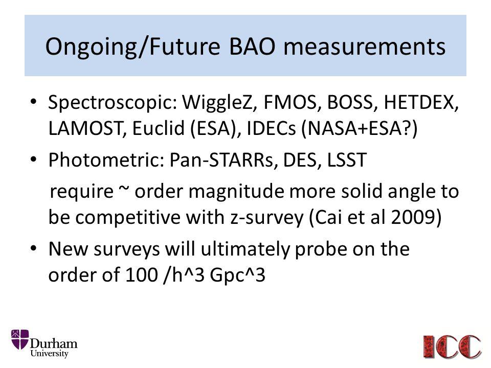 Ongoing/Future BAO measurements