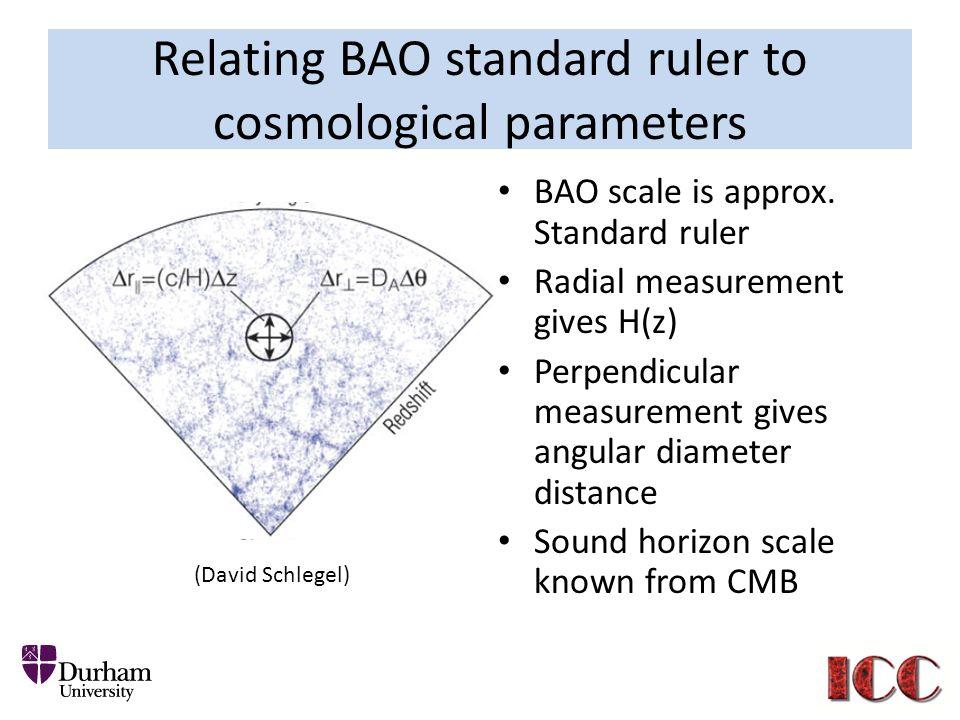 Relating BAO standard ruler to cosmological parameters