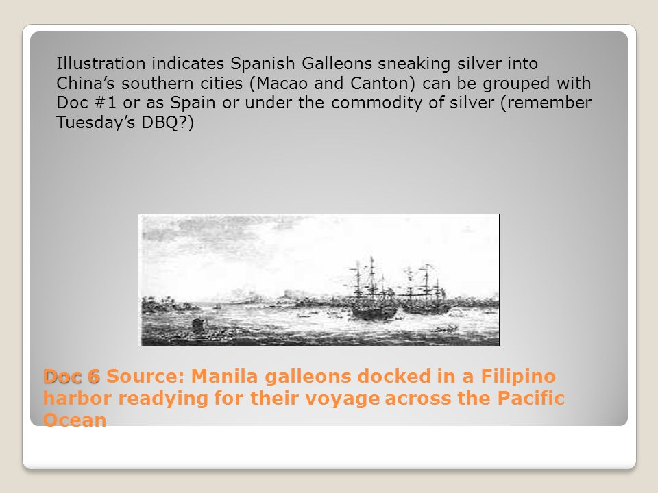Illustration indicates Spanish Galleons sneaking silver into