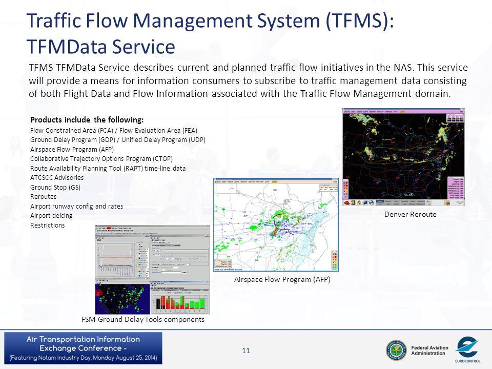 Traffic Flow Management System (TFMS): TFMData Service