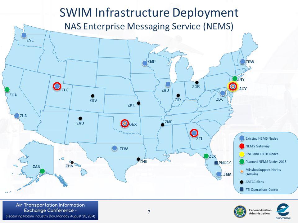 SWIM Infrastructure Deployment NAS Enterprise Messaging Service (NEMS)