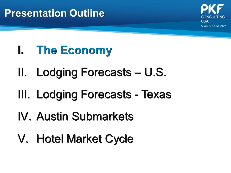 Lodging Forecasts - Texas Austin Submarkets Hotel Market Cycle