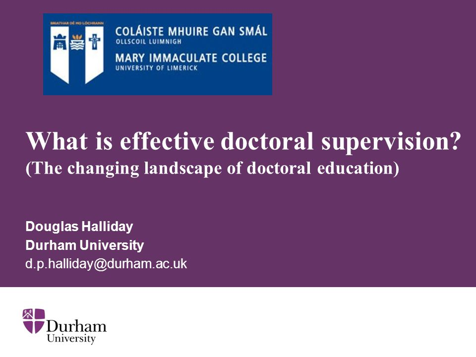 Douglas Halliday Durham University