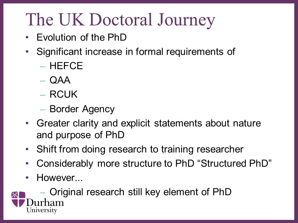 The UK Doctoral Journey