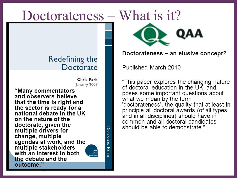 Doctorateness – What is it